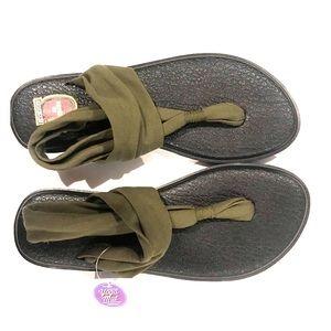 Sanuk yoga mat comfort sling sandals